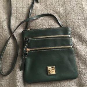 Dooney & Bourke Green Leather Crossbody Bag - Almo